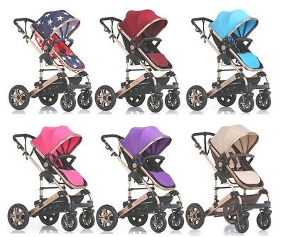 8 In 1 Baby Toddler Pram Stroller Jogger Travel System Aluminium With Bassinet
