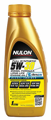 Nulon Full Synthetic Diesel Formula Long Life Engine Oil 5W30 1L SYND5W30-1