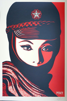 Shepard Fairey MUJER FATALE OFFSET Signiert Signed 2017