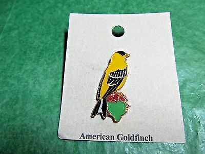 NATURES CHARMS GOLD FINCH 24k GOLD PLATED LAPEL HAT PIN (18)