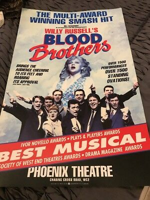 BLOOD BROTHERS  Original Theatre Poster Phoenix Theatre (P03)