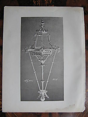 Antique  Ceiling Light Light Fitting   c1870 Photogravure
