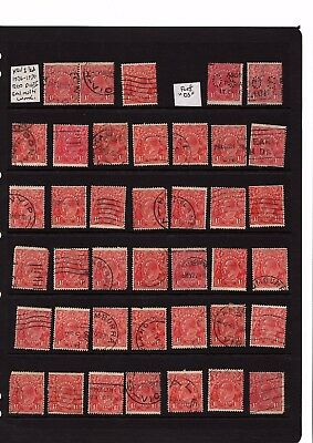 1926 - 1930 Australia KGV red shades 1 1/2d array die II - used collection 40+