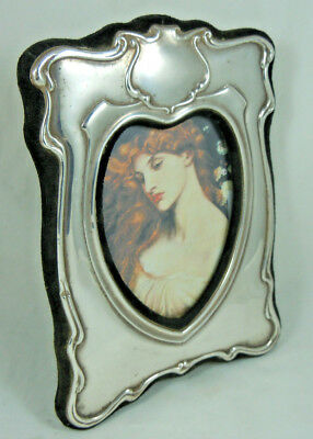 Vintage Solid Silver Photo Frame Art Nouveau Style Heart London 1988