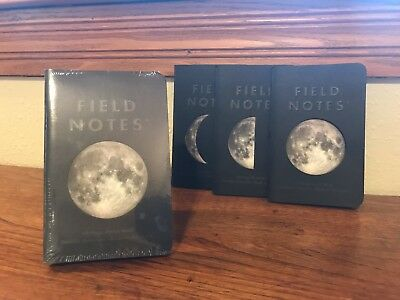 Field Notes Lunacy Sealed 3-Pack of Notebooks - Sold out Limited Edition