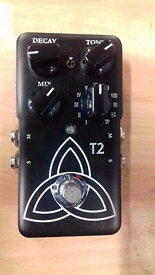 TC Electronics T2 stereo reverb effects pedal for electric guitar, used unboxed