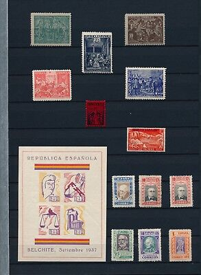 Spain. Double stockpage with civil war issues #3