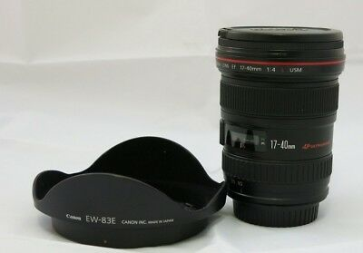 Canon EF 17-40mm f/4, 0 L USM Zoom-SNR lens in excellent condition
