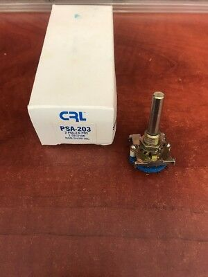 Qty (1) Psa203 Crl Rotary Switch 2 Pole 2-6 Position 1 Section Non-Shorting Nos
