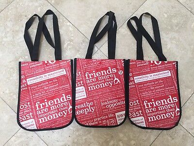 Three Small Lululemon Reusable Shopping Bags