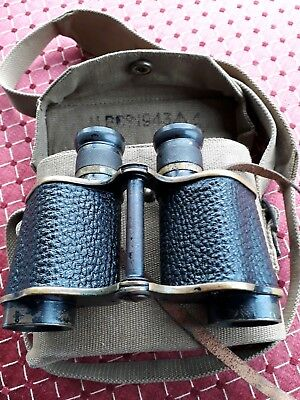 Ross military binoculars. Including case