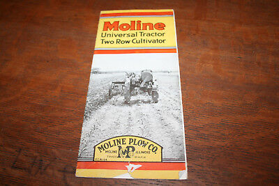 Moline Universal Tractor Two Row Cultivator Tractor Brochure Moline Plow Co!!
