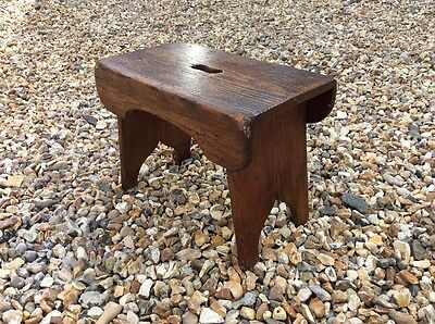 Antique Vintage Victorian Pine Stool Step Milking Child's Table Coffee