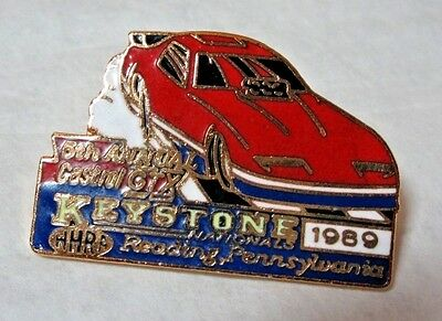 NHRA 89 5th Annual Castrol GTX Keystone Nationals Reading Drag Racing Event Pin