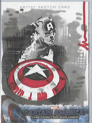2014 Captain America Winter Soldier sketch card by ? 1/1