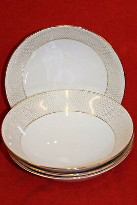 Wedgwood ~ Arris Design ~ Cereal Bowls X 4
