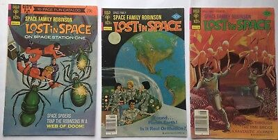 Lost In Space Space Family Robinson Lot  Gold Key 3 issues Bronze Age RARE