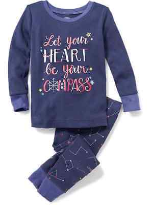 Nwt 5T 5 Years Old Navy Let Your Heart Be Your Compass Pjs 2Pc Set Girls Pajamas