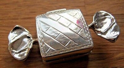 A Birmingham Hallmarked Solid Sterling Silver Sweet Box - Snuff Pill Keepsake