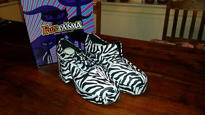 70s disco zebra platform shoes size 'large' (roughly mens size 9 to 11)