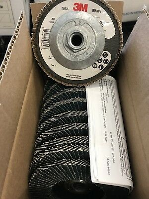 "3M 566A Giant 4.5"" 40 Grade Flap Disc TYPE 27 80 M/S sanding grinding finishing"
