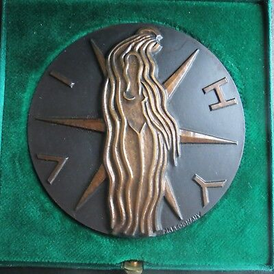 MEDAILLE BRONZE MAX LEOGNANY VILLE DE VICHY SOURCE THERMALE 68mm FRENCH MEDAL