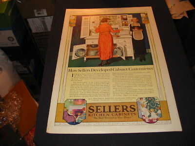 SELLERS Kitchen Cabinets 1920 December Ladies Home Journal