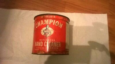 vintage  world champion 3lb. hand cleaner can(empty)