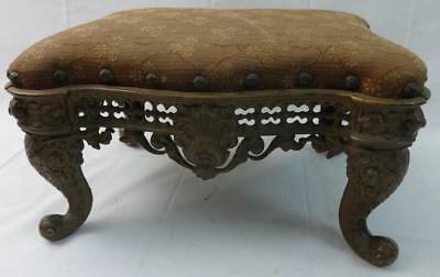 Antique Cast Iron Footstool Attr. to Keeley Stove Co. Columbia, Penna.