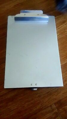 """Saunders Light Weight Aluminum """"Police Issue"""" 9.25"""" x 14"""" Storage Unit/Clipboard"""