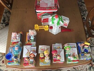 LOT of VINTAGE Strawberry Shortcake 1980s Dolls, Boxes, and Garden House