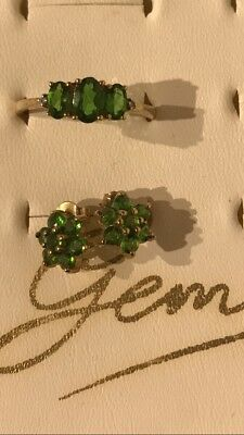 Gems Tv Ring And Earring Set