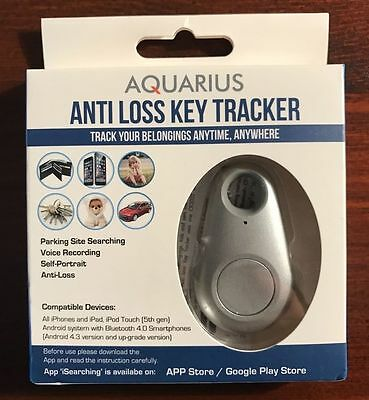 Aquarius Anti Loss Key Tracker For iPhone / iPad & Android Devices