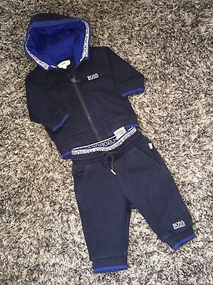 Fab Hugo Boss Baby Tracksuit Joggers And Jacket 3 Months