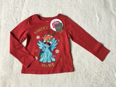 ***BNWT Next girls My Little Pony Christmas Floral top t shirt 2-3 years***