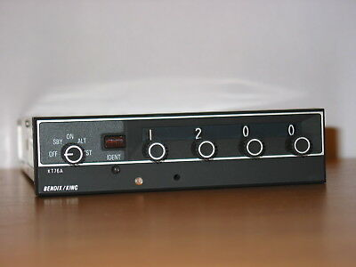 Bendix King Kt-76A Transponder With Tray !!! Very Nice Kt 76 A !!!