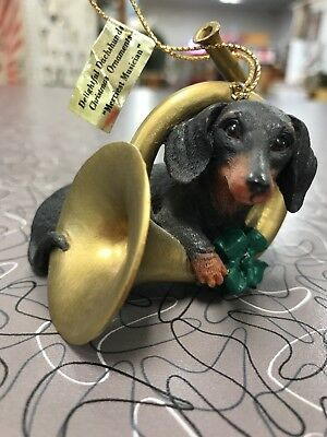 Danbury Mint Delightful Dachshunds Christmas Ornaments – Merriest Musician