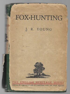 Fox-Hunting J. R. Young Essays Vintage Dog Book 1934