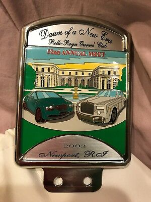 Rolls Royce Owners Club 2003 Newport Grill Badge and Plaque