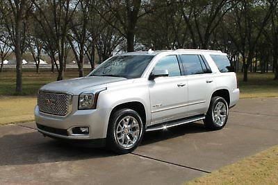 2015 GMC Yukon SLT 1 Owner Perfect Carfax One Owner Perfect Carfax Moonroof Heated and Cooled Seats Nav TV/DVD 20's