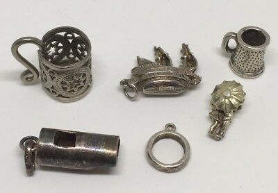 Collection Job Vintage Sterling Silver Chim Opening Charms Bracelet Jewellery
