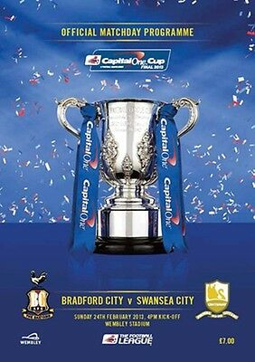 BRADFORD CITY v SWANSEA CITY 2013 CAPITAL ONE CUP FINAL PROGRAMME