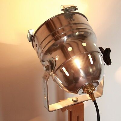 retro theatre vintage stage lighting with stand Patt 123 fresnel restored