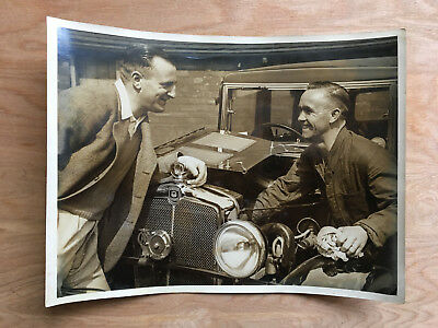Approx 1930 press photo Sheffield Wednesday greats Tommy Walke and Mark Hooper.