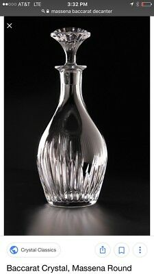 BACCARAT Massena Whiskey Decanter, 30 Ounces MSRP $790