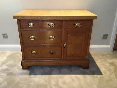 Antique Burr Walnut Chest Of Drawers From Camden Market