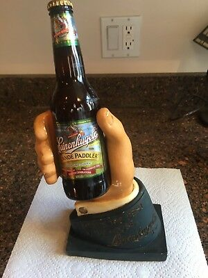 Antique Advertising Leinebugel's Beer Bottle Hand Holder