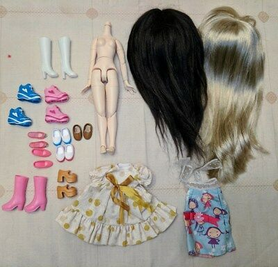 Blythe lot scalp, dome, body, clothes shoes