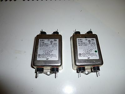 2x Corcom 3VR1 RFI Power Line Filter / noise suppressor  3A 120/250 volt