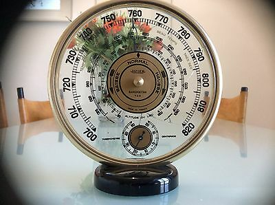 """Jaeger (LeCoultre) Art Deco Wetterstation/Barometer/Thermometer """"Ghost"""""""